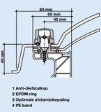 Lichtkoepel 40x40cm ventilatie inclusief opengaande opstand_