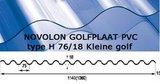 Golfplaat PVC Novolon type H 76/18 kleine golf 275cm_