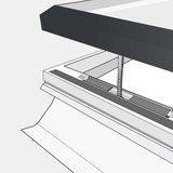 Daylight platdakraam HR++ glas inclusief ventilerende opstand 120x120cm_