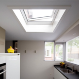 Lichtkoepel met ventilatie 100x100cm PVC opstand_