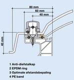 LICHTKOEPEL 4-W ACRYLAAT DAGMAAT 50X50 CM bolvormig_