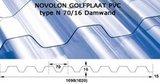 GOLFPLAAT (DAMWAND) PVC NOVOLON GT L=200cm  Type N 130/30_