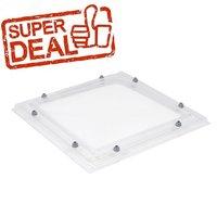 Lichtkoepel goedkoop 3-wandig acrylaat EXCLUSIEF dakopstand nu als superdeal van € 84,60 tot € 498,16