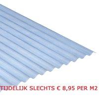 Golfplaat polyester Novolite 76/18 type H L183xB114cm