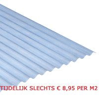Golfplaat polyester Novolite 76/18 type H L244xB114cm