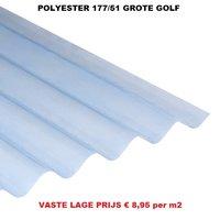 Goedkope golfplaat POLYESTER 177/51 grote golf van € 12,01 tot € 54,15 per plaat