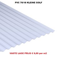 Goedkope golfplaat PVC H 76/18 kleine golf van € 13,84 tot € 41,52 per plaat