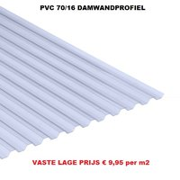Goedkope golfplaat PVC N 70/16 damwand van € 16,27 tot € 65,07 per plaat