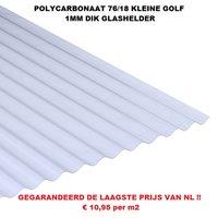 Goedkope golfplaat POLYCARBONAAT 1mm 76/18 kleine golf van €17,76 tot €35,40 per plaat