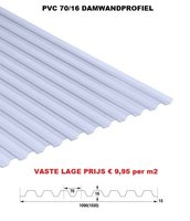 Golfplaat PVC Novolon type N 70/16 damwand 350cm