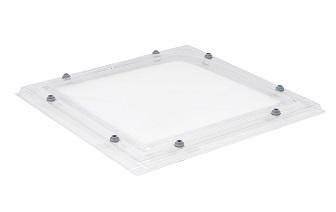 Lichtkoepel dagmaat 105x105cm zónder dakopstand