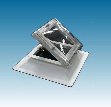Lichtkoepel 100x100cm ventilatie inclusief opengaande opstand