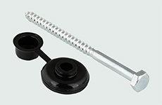 Golfplaatschroef 7x110mm + combidop grijs 100 stuks