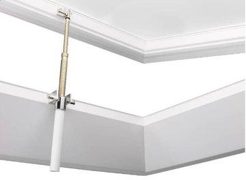 Lichtkoepel 130x130cm ventilatie inclusief opengaande opstand