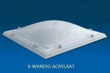 LICHTKOEPEL 4-W ACRYLAAT DAGMAAT 70X70 CM bolvormig