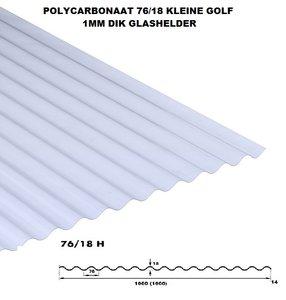 POLYCARBONAAT GOLFPLAAT 1-wandig H 76/18 lengte 214cm