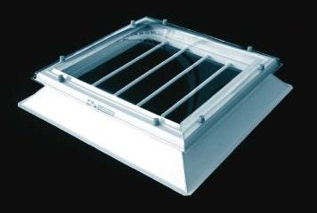 anti-inbraakrooster I doorvalbeveiliging 50x50cm aluminium ongecoat