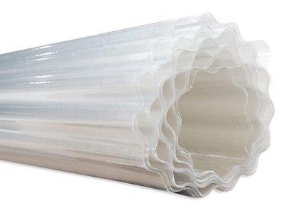 Golfplaat op rol polyester 76/18 kleine golf rolhoogte (=waterafloop) 150 cm