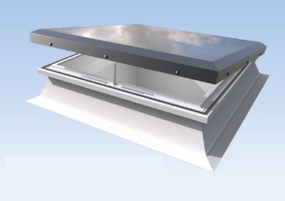 Daylight platdakraam HR++ glas inclusief ventilerende opstand 120x120cm