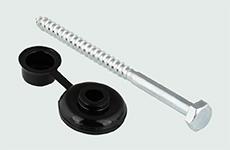 Golfplaatschroef 7x110mm + combidop zwart 25 stuks